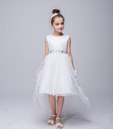 Wholesale Trailing Sash - Teenage Girl Dress 2017 Summer Brand Children Evening Princess Dress High Grade Trailing Dresses For Girls Special Occasion Wear