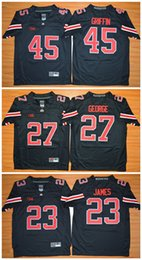 Wholesale Boys Shorts George - 2017 Ohio State Buckeyes Youth Jerseys 45 Archie Griffin 23 Lebron James 27 Eddie George Kids Boys Children College Football Jersey