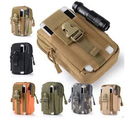 Wholesale Waist Bag Free Shipping - Unisex Outdoor Sport Casual Tactical Belt Loops Waist Bag Molle Military Waist Fanny Pack Smartphone Mobile Phone Case 10 pcs free shipping