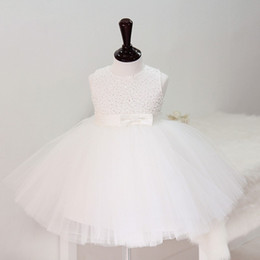 Wholesale Toddler Tutu Dress Sequins - Sequin Tulle Ball Gown Flower Girl Dress 2018 Bateau Neck Wedding Birthday Communion Toddler Kids TuTu Dress