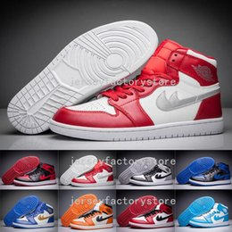 Wholesale Sport Boots Basketball - (With Box) Cheap Mens Basketball Shoes Men Air Retro 1 Dan I High Cut Boots High Quality Sneakers J1S Black White Sports Shoes Free Shipping
