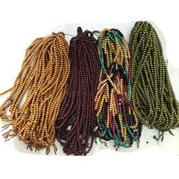 Wholesale 8mm Sandalwood Beads - Fashion 8mm Natural Sandalwood Buddhist Buddha Meditation 108 beads Wood Prayer Bead Mala Bracelet Women Men Jewelry Gift Beaded Strands