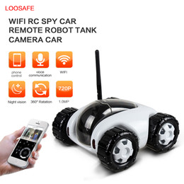 Wholesale Ccd Wifi Ip Cameras - 2017 hot new 720p RC spy Car hidden camera CLOUD ROVER Real-time Video Removable smart wireless ip camera wifi