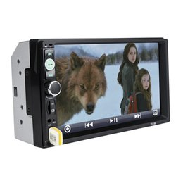 Wholesale Mp3 Sd Radio - 7010B 7 Inch Bluetooth V2.0 2 Din Car Audio Stereo Touch Screen MP5 Player Support SD USB FM Radio 169753701