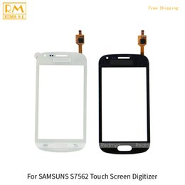 Wholesale Galaxy S Duos S7562 Screen - 5pcs lot For Samsung Galaxy S Duos S7562 S7560 Front Touch Screen Panel Digitizer Outer Glass Sensor Replacement Parts Black White Color