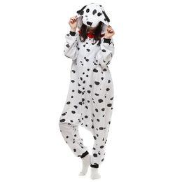 roter schwarzer spiderman zentai Rabatt Unisex Erwachsene Kigurumi Dalmatiner Onesie Outfit Halloween Kostüm Pyjamas