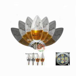 Wholesale 5w Candle Bulb E12 - E12 E14 E27 5W 10W 15W Cree Led Candle light bulbs dimmable led candelabra bulb lamp lighting 110v 220v warm nature cool white