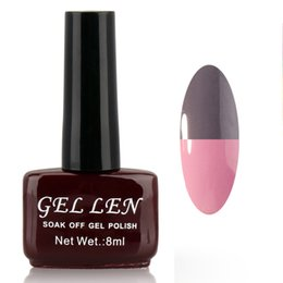 Wholesale Cheap Lacquer - Wholesale-Gel Len Temperature MOOD Changing gel nail polish 8ml long-lasting soak-off led uv gel lacquer cheap nail enamel #127