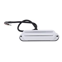Wholesale Guitar Single Coil - wholesale Lightweight and High Quality Dual Hot Rail Single Coil Humbucker Pickup 4 Wire for Electric Guitar