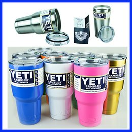 Wholesale Christmas Gift Cups - Factory Sale Christmas New Year Gifts 20oz 30oz Colorful Yeti Coolers Cups 10oz 12oz Tumbler Rambler Colster Beer Cup Mugs Mass In Stock