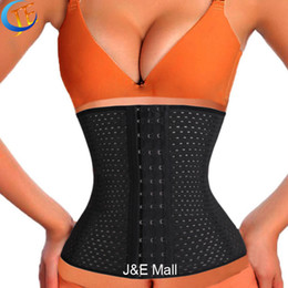 Wholesale Body Spirals - Wholesale- LSYCDS Hollow Out Breathable Smooth Three Spiral Steel Bone Hot Body Shapers Women Plus Size 6XL Waist Trainer latex for Ladies