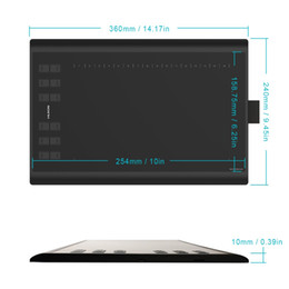 Argentina Nuevo Huion 1060 Plus Pen Tablet Tableta de dibujo gráfico 8192 Nivel Tablero de dibujo digital Pen Tablet Digitalizador Suministro