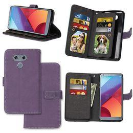 Wholesale E3 Card - Multifunction Matte Retro Wallet Flip Leather Pouch Case For LG G6 G5 K4 2017 LV3 K8 K3 K10 LV5 STYLUS 3 MOTO E3 G5 M X TPU Card Stand Cover