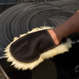 Wholesale Tools For Cleaning Cars - Wholesale- Soft Wool Car Wash Cleaning Glove gloves Car Motorcycle brush Washer for Car Care Cleaning tool