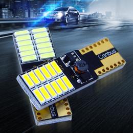 2019 luces de advertencia verde ámbar T10 24SMD 4014 luz del coche LED Canbus error matrícula libre lámpara luces de separación luces de lectura blanco azul