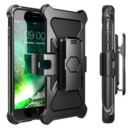 Wholesale Silicone Belts - Defender Armor Case for iPhone 7 7Plus Samsung S8 S8Plus Dual Layered ShockProof Case with Belt Clip and Kickstand 360 Full Protection