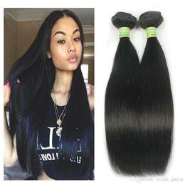 "Wholesale Nature Hair Weave - Malaysia Human Hair bundle 100% Virgin Human Hair Double Weft 10""-28"" Nature Color 3 Piece Weaving"