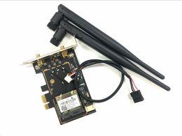 Wholesale wifi card pcie - Wholesale- atheros AR5B22 DW1901 Bluetooth 4.0 wifi 300M Desktop Card PCIe to PCIe Desktop Adapter with 2pcs Antenna network short brackt