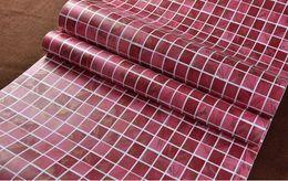red Thick self-adhesive mosaic wallpaper anti-oil paste kitchen high  temperature anti-oil easy to scrub toilet tiles stickers waterp
