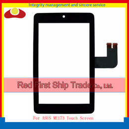 "Wholesale Asus Memo Pad Me173 - High Quality 7.0"" For ASUS MeMO Pad HD7 ME173 ME173X Tablet PC Touch Screen With Digitizer Sensor Panel Front Glass Lens Black"