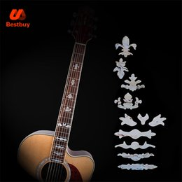 Wholesale Electric Guitar Stickers - Fret Inlay Stickers Imitation Abalone Guitar Fretboard Decals Marker For Acoustic Electric Guitarra Neck New