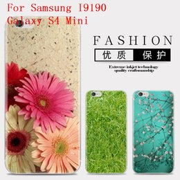 Wholesale Cartoon Galaxy S Cases - Flower Series Phone Case For Samsung I9190 Galaxy S4 Mini S IV Mini Cute Cartoon High Quality Painted TPU Soft Silicone Skin Back Cover