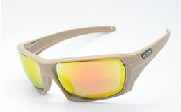 Wholesale Ess Goggles Black - ESS Rollbar Tactical Sunglasses 4 Lenses Goggles with Original Case 2 Colors Black Khaki Tactical Army Eyeshield