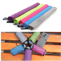 Wholesale Color Face Towels - Fast Drying Gym Towel BLUEFIELD Quick drying Towel Microfiber Sports Travel Swimming Journey towel 35*70cm 5 color KKA1548