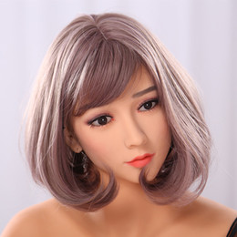 Wholesale Oral Sex Dolls Head - New 165cm perfect Japanese silicone real sex doll big breast metal skeleton Asian head tan skin TPE oral vagina anal sex doll
