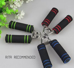 Wholesale Steel Grips - Sponge spring Steel Wire Heavy Grip Hand Gripper Strength Tool Device durable material Free Shipping