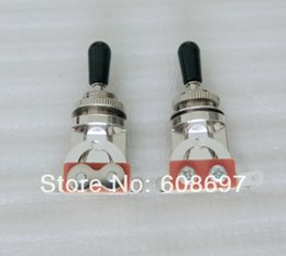 Wholesale Toggle Switch Tip - Guitar parts 2pcs pack toggle guitar switch Black   Ivory tip 3 way lp guitar Switch