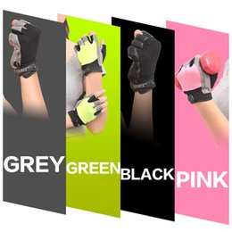 Wholesale Wholesale Weight Training Gloves - Free Shipping New Women Men Gym Gloves Body Building Training Sport Fitness Gloves Exercise Weight Lifting Gloves