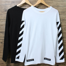 Wholesale Fashion Mens T shirt OFF WHITE Outdoor Casual Long Sleeve Oversize Tee shirt O neck Cotton Palace Tees