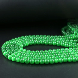 Wholesale Cat Eye Stones - Cats Eye Stone, Green Cats Eye Round Beads, Chrysoberyl Rondelle Beads, 6 8 10mm Full Strand 15 inch