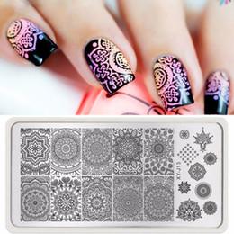 Timbratura di timbri di arte del chiodo online-1pc Mandala Nail Art Stamp Template Piatto India Mandala Style Nail Art Timbro Piatto Nail Art Decoration