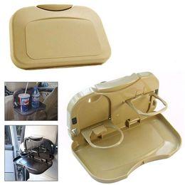 rücksitz tisch Rabatt Faltbarer Auto-Rücksitz-Tabellen-Behälter-Standplatz-Nahrungsmittelpokal-Getränk-Flaschen-Zahnstangen-Halter