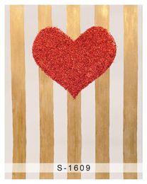 Wholesale Digital Background Floors - 5x7ft Vinyl Digital Red Heart Wood Wall Wood Floor Photography Studio Backdrop Background