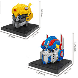 2 Modèles nano blocs tête de robot avec éclairage LED figures modèle thor blocs de plastique diamant avec présentoir briques jouets # 2503-2504 ? partir de fabricateur