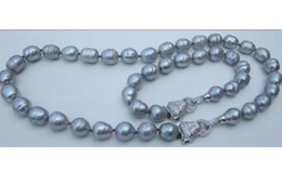 Wholesale South Sea Pearls Singapore - huge 11-13mm AAA natural south seas gray pearl necklace 18inch + 7.5-8inch bracelet