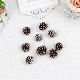 Wholesale Pet Cone - Wholesale- lovely pet Christmas Pine Cones Bauble Xmas Tree Party Hanging Decoration Ornament Pendant Pine Cones Decoration nov3