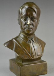 Wholesale Feng Shui Wealth - 6 inch collectible WWII copper carving decorate Adolf statue