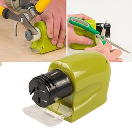 Wholesale Electric Knives - Professional Electric Ceramic Knife Sharpener Sharpening Stone Kitchen Tool Sharpening System Grindstone Tools