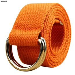 Wholesale Loop Leather Belts - Wholesale- belts for women designer brand high quality Double loop canvas belt men and women students lovers waistband