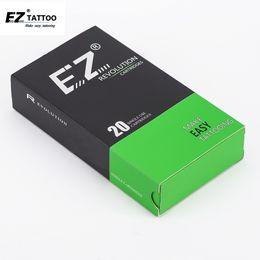 Wholesale Disposable Magnum - 20PCS Box Disposable Sterile EZ New Revolution Magnum Tattoo Needle Cartridges 5.5 mm Regular Long Taper