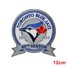 Wholesale Wholesale Jersey Toronto - 2017 Toronto blue jays 40th Season Jersey Patch Embroidery Iron on or Sew on Free shipping