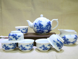 Wholesale Heavy Clay - Blue and White Porcelain with Chinese Fine Brush Heavy Color Landscape Painting PTS-GBSS