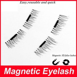 Wholesale Eye Lashes Extensions Glue - Magnetic Eyelashes 3D Mink handmade lashes no glue easy remove False Eye Lashes Extension Super Natural Long Fake Eyelashes