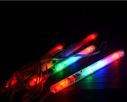 Wholesale Red Light Sticks - New lots 4 Color LED Flashing Glow Wand Light Sticks ,LED Flashing light up wand novelty toy
