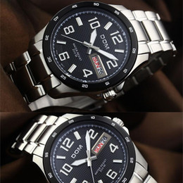 Wholesale Dom Watches - 2018 luxury watchWatches men luxury brand Top Watch DOM 132D quartz men wristwatches dive 200m military watch sapphire fashion relogio mascu