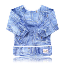 Wholesale Plain Burp Cloths - Ohbabyka Stylish Baby Bibs Waterproof Bibs Print Pattern Reusable Kids Bibs&Burp Cloths Ployester Newborn Feeding Baby Slabbers